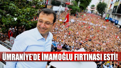 Ekrem İmamoğlu, Ümraniye'de coşkulu bir kalabalığa seslendi