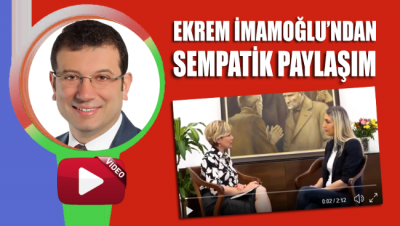 Ekrem İmamoğlu'ndan eşi Dilek İmamoğlu'na ait söyleşi paylaşımı