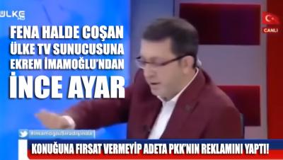 Ekrem İmamoğlu'nu programına davet edip PKK'nın reklamını yapan sunucuya İmamoğlu'ndan ayar