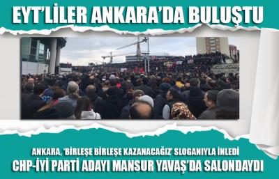 Emeklilikte yaşa takılanlar Ankara'da buluştu