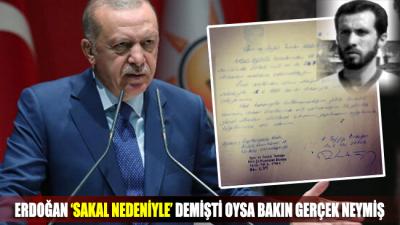 Erdoğan 'sakal nedeniyle' demişti oysa gerçek bambaşka!