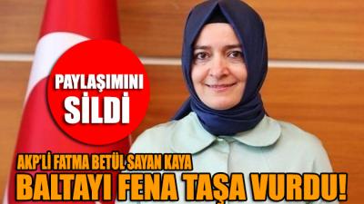 Fatma Betül Sayan Kaya fena yakalandı: Gerçek ortaya çıkınca paylaşımı sildi