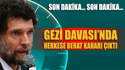 Gezi davasında karar açıklandı: 9 sanık beraat etti, 7 sanığın ise dosyası ayrıldı