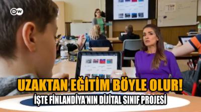 Halka nitelikli eğitim hizmeti işte böyle götürülür: Finlandiya'da uzaktan eğitimde dijital sınıf uygulaması