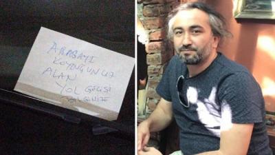 Hatalı park eden savcının aracına not bıraktı, gözaltına alındı