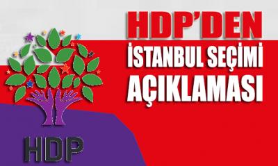HDP'den İstanbul seçimi açıklaması