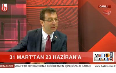 İBB'nin Seçilmiş Başkanı Ekrem İmamoğlu HALK TV Canlı Yayında Konuşuyor