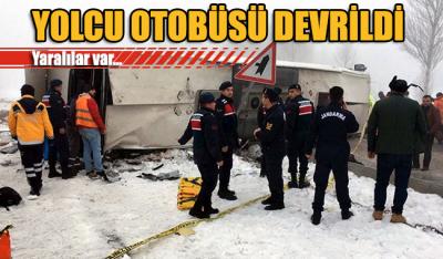Isparta'da yolcu otobüsü devrildi: 29 yaralı