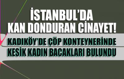 İstanbul'da çöp konteynerinde kadın bacakları bulundu
