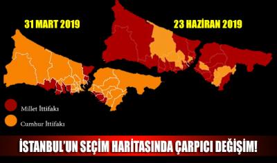 İstanbul'un seçim haritasında çarpıcı değişim!