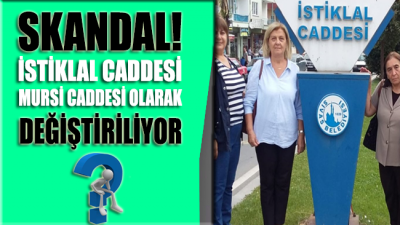 İstiklal Caddesi AKP'li belediye tarafından Mursi Caddesi olarak değiştiriliyor!