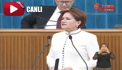 İYİ Parti Genel Başkanı Meral Akşener grup toplantısında