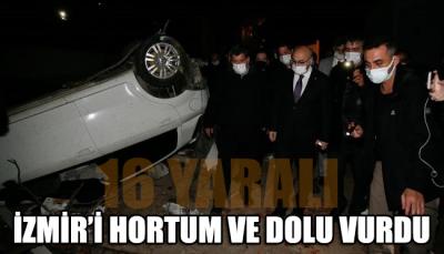 İzmir'i hortum ve dolu vurdu: 16 yaralı var