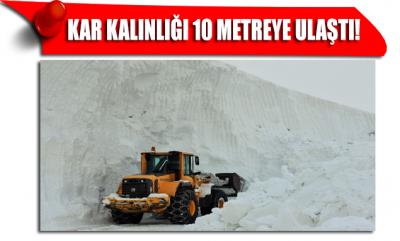 Kar kalınlığı 10 metreye ulaştı! Kış Anadolu'yu kasıp kavuruyor…