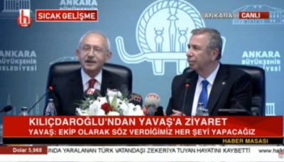 Kılıçdaroğlu'ndan Mansur Yavaş'a ziyaret