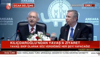 Kılıçdaroğlu'ndan Mansur Yavaş'a ziyaret