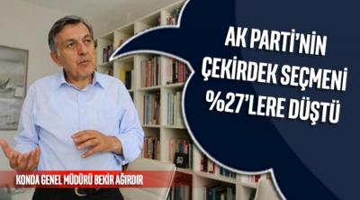 KONDA Gen.Müd. Bekir Ağırdır: AK Parti'nin çekirdek seçmeni yüzde 27'lere düştü