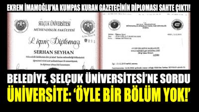 Kumpas aracısının diploması sahte çıktı!