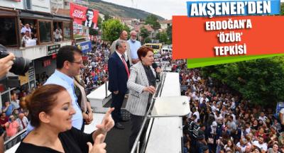 Meral Akşener'den Erdoğan'a 'ÖZÜR' tepkisi