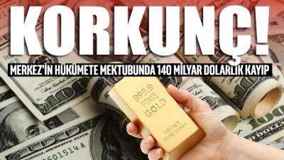 Merkez'in hükümete mektubunda 140 milyar dolarlık kayıp