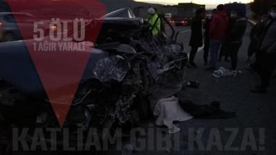 Mersin'de katliam gibi kaza: 5 ölü, 1 ağır yaralı