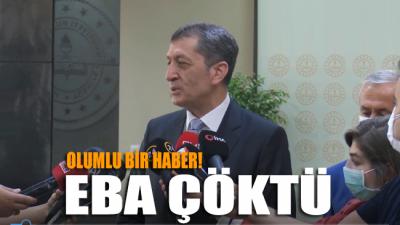 """Milli Eğitim Bakanı EBA'nın çökmesini """"Bu olumlu bir haber"""" şeklinde yorumladı!"""