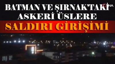 MSB duyurdu: Batman ve Şırnak'taki askeri üslere saldırı girişimi