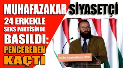 Muhafazakar siyasetçi 24 erkekle seks partisinde basıldı: Pencereden kaçtı