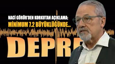 Naci Görür'den korkutan deprem açıklaması: Minimum 7.2 büyüklüğünde…