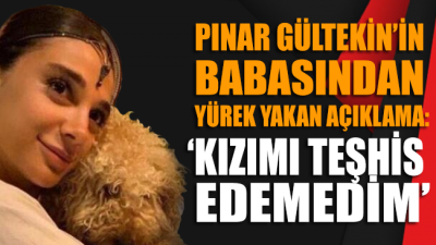 Pınar Gültekin'in babasından yürek yakan sözler: 'Kızımı teşhis edemedim'