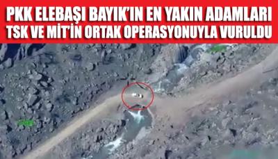 PKK elebaşı Bayık'ın en yakın adamları vuruldu