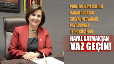 Prof. Dr. Gaye Usluer'den Bakan Koca'nın aşı açıklamasına tepki geldi