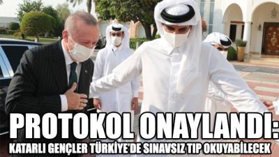 Protokol onaylandı: Katarlı gençler, Türkiye'de sınavsız tıp okuyabilecek