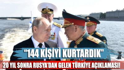 Rusya Acil Durumlar Bakanlığı'ndan Türkiye açıklaması: Gölcük Depremi'nde 144 kişiyi kurtardık