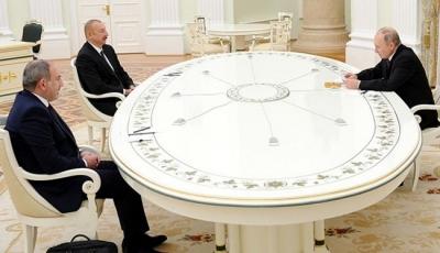 Rusya'da Aliyev, Paşinyan ve Putin'den ortak bildiri