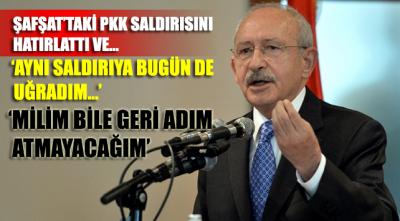 Saldırının ardından Kılıçdaroğlu'ndan ilk açıklama! 'Bir milim geri adım atmayacağım'