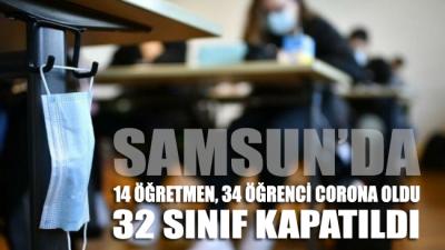 Samsun'da 14 öğretmen 34 öğrenci corona oldu, 32 sınıf kapatıldı