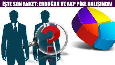 Son anket sonucuna göre Erdoğan ve partisi AKP adeta pike dalışında!