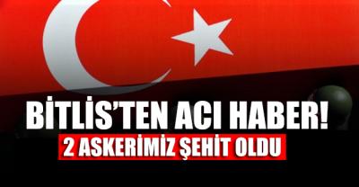SON DAKİKA... Bitlis'te 2 askerimiz şehit oldu!