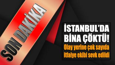 SON DAKİKA... İstanbul İkitelli'de bina çöktü!