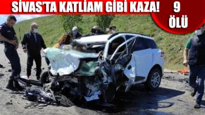 SON DAKİKA... Sivas'ta iki araç kafa kafaya çarpıştı: 9 ölü