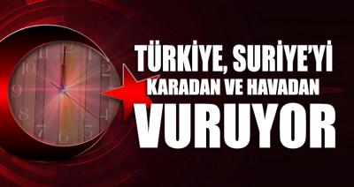 SON DAKİKA... Türkiye misilleme olarak Suriye'yi karadan ve havadan vuruyor