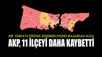 Son dakika verilerine göre AKP 11 ilçeyi daha kaybetti