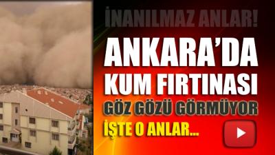 SON DAKİKA...Ankara'da toz fırtınası
