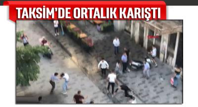 Taksim'de ortalık karıştı