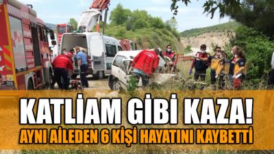 Tatil yolunda katliam gibi kaza: Aynı aileden 6 kişi hayatını kaybetti
