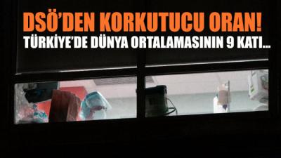 Türkiye'de dünya ortalamasından 9 kat fazla olması endişeleri arttırdı!