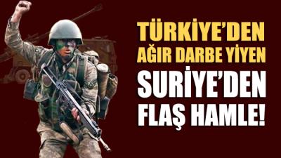 Türkiye'den ağır darbe yiyen Suriye'den flaş hamle