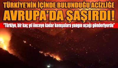 Türkiye'nin yangınlar başladıktan sonra gösterdiği zaafiyeti Avrupa medyası da şaşkınlıkla karşıladı