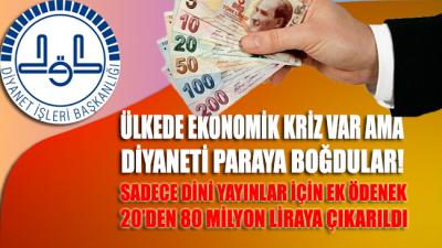 Ülkede ekonomik kriz var ama Diyanet'i paraya boğdular! Dini yayınlar için ek ödenek 20'den 80 milyon liraya çıkarıldı